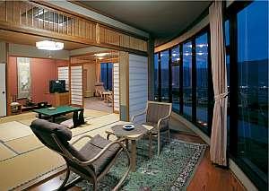特別室和室180度のガラス張り眺望◎