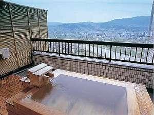 露天風呂付和室のお風呂