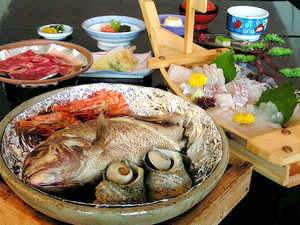 明石鯛が丸ごと1匹★舟盛り&鯛の宝楽焼プラン [1泊2食付] 淡路 ...