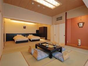 ベッド付き広々和洋室露天風呂付き客室
