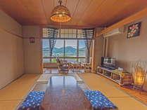 由布岳が一望できる絶景の宿 かつらぎ山荘